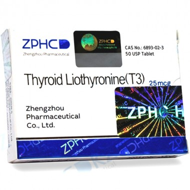 Zhengzhou Pharmaceutical Thyroid Liothyronine 25 mcg 25 tab